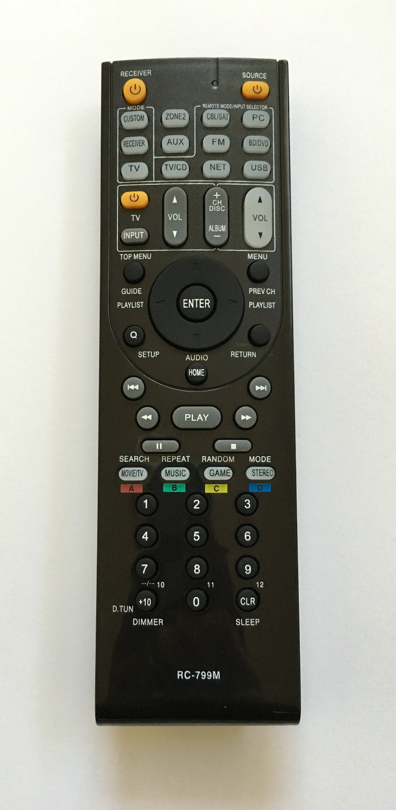 New Remote For ONKYO RC-799M HT-S3500 HT-R548 HT-RC330 Audio Video Receiver by Unbranded
