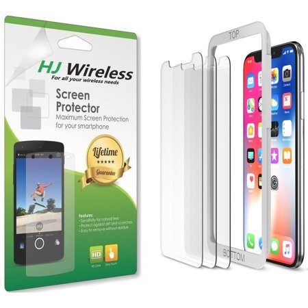 iPhone X Screen Protector, HJ Wireless (Clear, 3 Packs) iPhone X Tempered Glass Screen Protectors [3D Touch] 0.25mm Screen Protector Glass for Apple iPhoneX 2017 work with most case 99% Touch (Blackberry Bold 9790 Touch Screen Not Working)