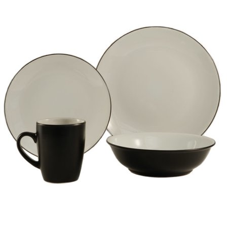 Colorus China Cleon 16 Piece Dinnerware Set  Service For 4