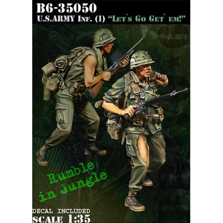 Bravo6 1 35 Us Army Infantry  1 Lets Go Get Em   2 Resin Figures  B6 35050