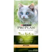 Purina Pro Plan Grain Free Natural High Protein Dry Kitten Food TRUE NATURE Chicken & Egg Recipe 13 lb. Bag