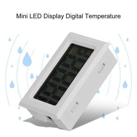 Lcd Digital Temperature Sensor - HURRISE Mini LED Display Digital Temperature Meter Probe Sensor Digital LCD Thermometer, LED Thermometer, Water Thermometer