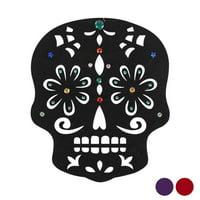 DDI 2339974 13 in. Felt Sugar Skull Decor with Gems, Assorted Color - Case of 36