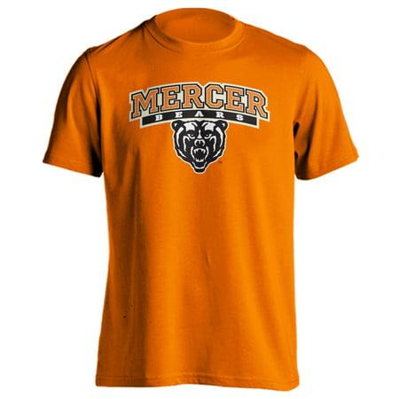 Mercer University Bears MU Classic Arch Mascot Short Sleeve T-Shirt (Orange, S)