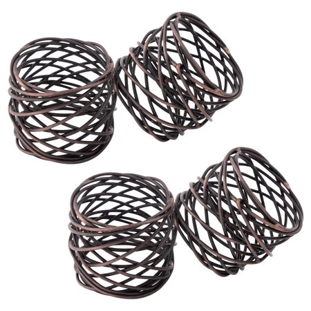 KAF Home Metal Napkin Rings Set of 4 ()