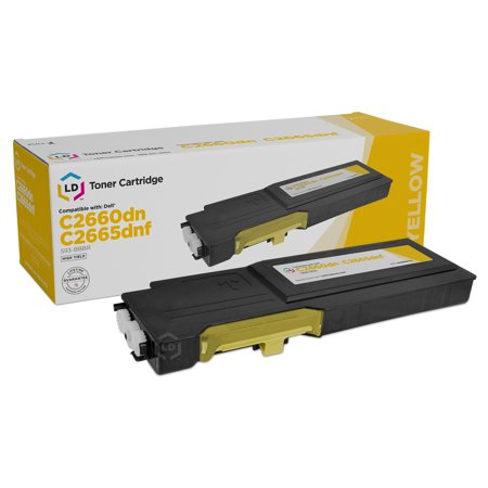 LD Dell Compatible YR3W3 (2K1VC) Yellow High Yield Toner Cartridge Includes: 1 593-BBBR Yellow for use in Dell Color Laser C2660dn, and C2665dnf s Q2682a Compatible Yellow Laser