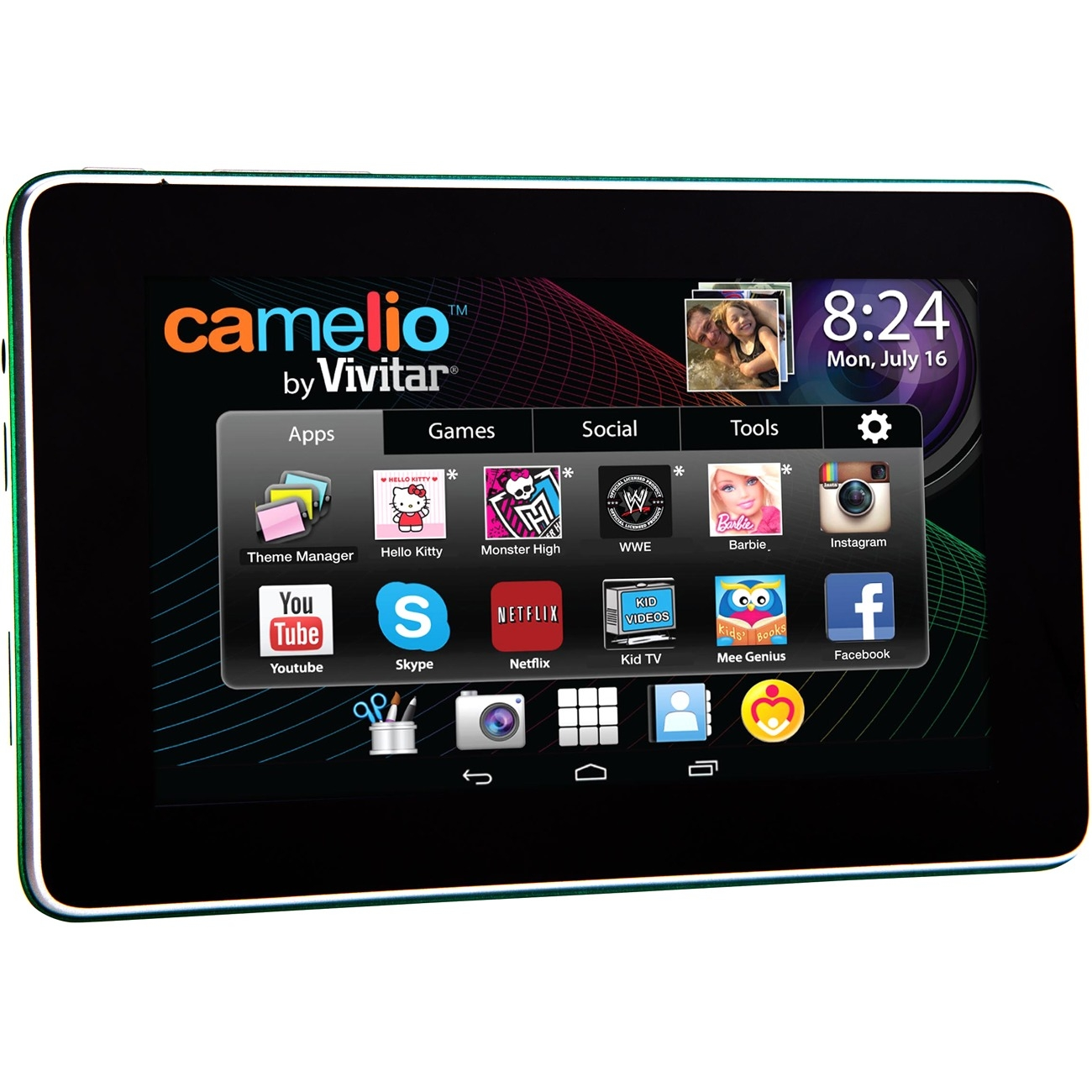 "Sakar Camelio 2 Mini 4.3"" Tablet - Tablet - Mini - Android 4.3 - Google Play - Preloaded Games - Hd Video - Built In Wifi - Educational Tools - Parental Controls - Safe Web Surfing - Battery (cam-430)"
