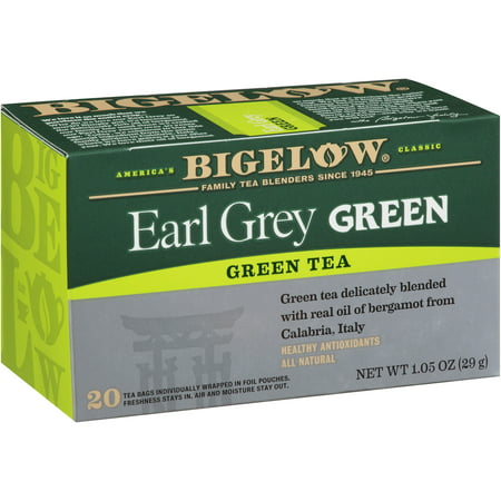 (2 Pack) Bigelow, Earl Grey Green, Tea Bags, 20 Ct