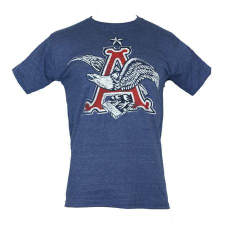 Anheuser Busch Mens T-Shirt - Distressed Classic Eagle A (Anheuser Busch Collectibles)