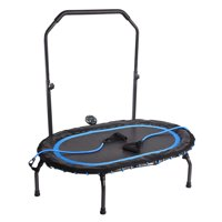 Stamina InTone Oval Fitness Trampoline with Foam Handlebar and Resistance Tubes