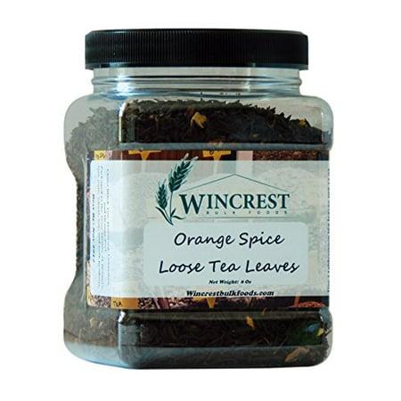 Bulk Loose Black Tea Leaves - 8 Oz Container (Orange Spice) Orange Spice Loose Leaf