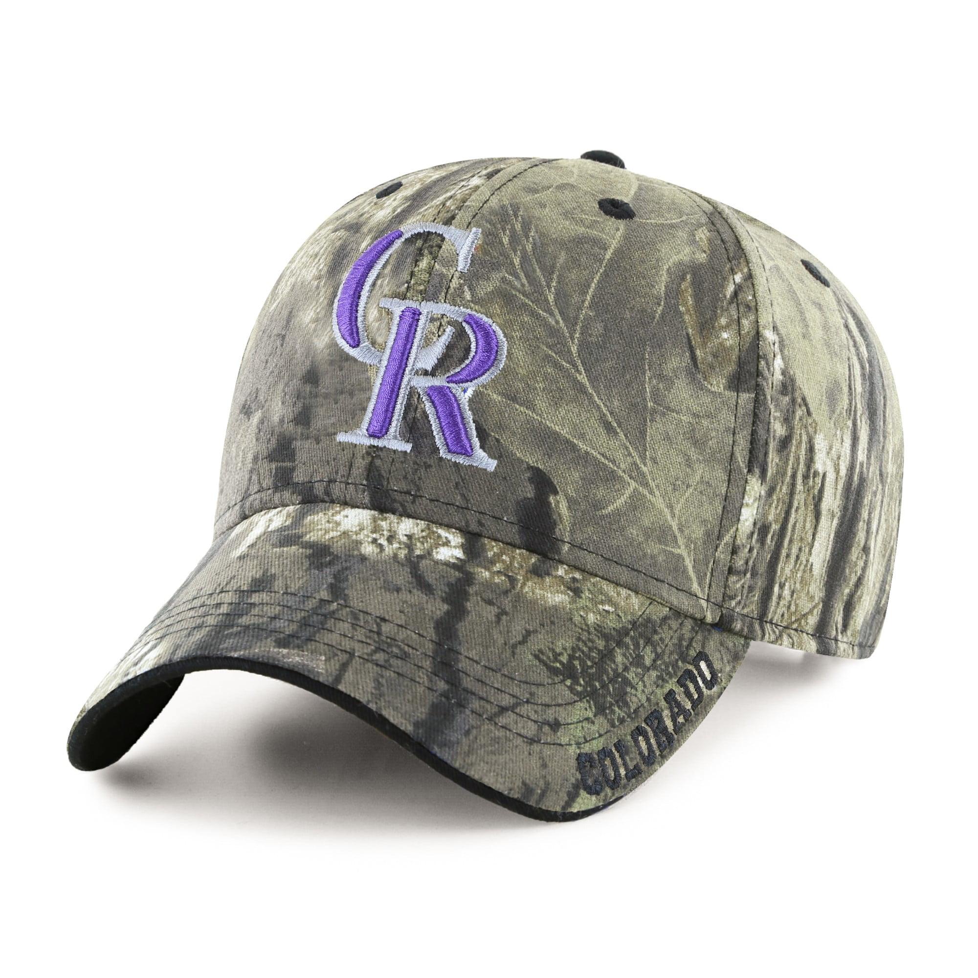 Fan Favorite MLB Mossy Oak Adjustable Hat, Colorado Rockies