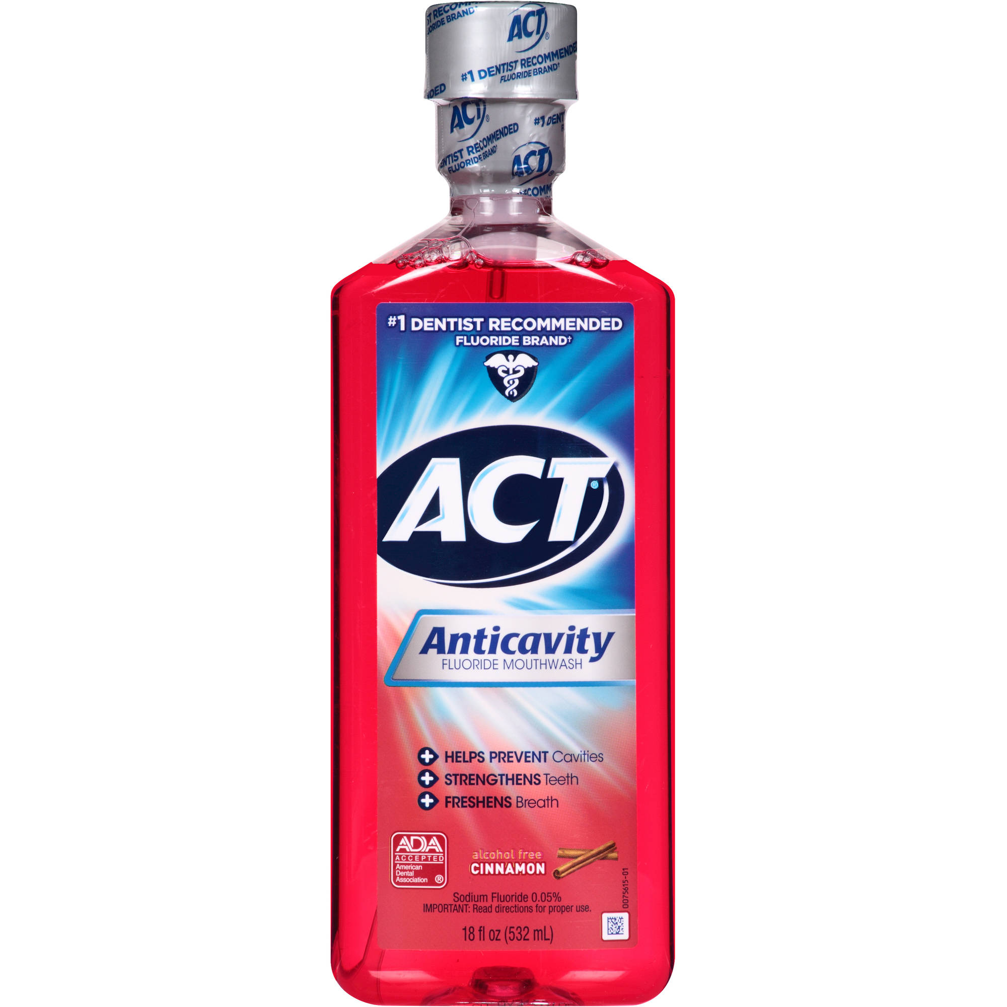 ACT Cinnamon Anticavity Fluoride Mouthwash, 18 oz