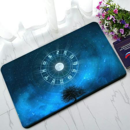 Zodiac Rug (PHFZK Tree of Life Doormat, Zodiac Signs Horoscope Doormat Outdoors/Indoor Doormat Home Floor Mats Rugs Size 30x18 inches )