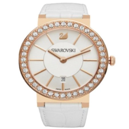 Swarovski White Leather - Swarovski Women's 1094362 'Citra Sphere' Crystal White Leather Watch