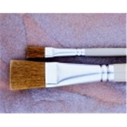 School Specialty Nylon Bristle Acrylic Handle Easel Brush - 0.5 x 0.93 in. Hair, Gold