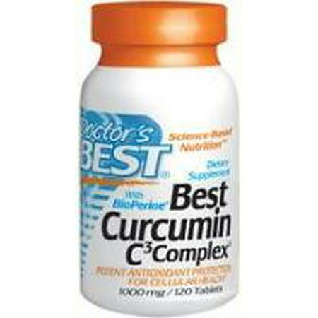 Best Curcumin 1000mg C3 Complex with BioPerine Doctors Best 120 (Dr Best Curcumin C3 Complex)
