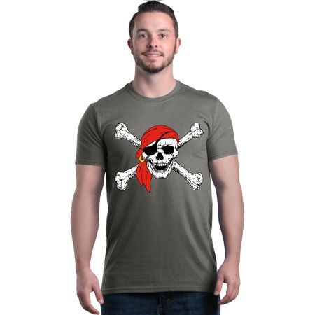 Shop4Ever Men's Skull and Crossbones Pirate Flag Graphic - Mens Pirate Coat
