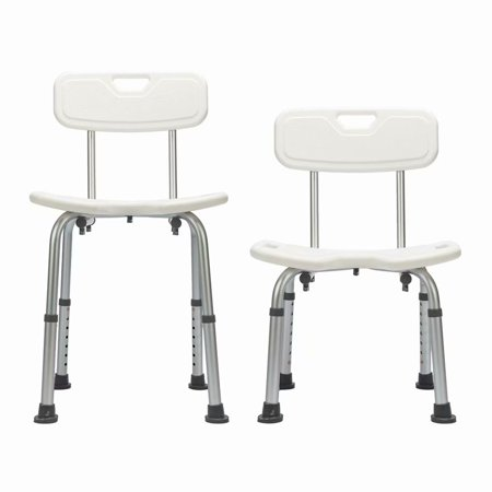 Akoyovwerve Hygienic Shower Chair with Removable Back for Seniors and Elderly, U-Shape Bath Bench for the Disabled, Bathroom Stool for Adults, Handicap Shower Seat, White ()