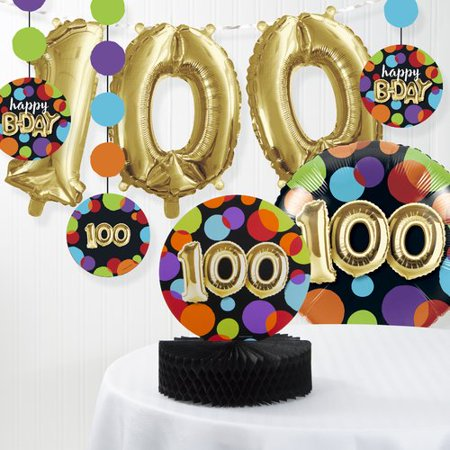 The Party Aisle Balloon 100th Birthday Decorations Kit Set Of 8