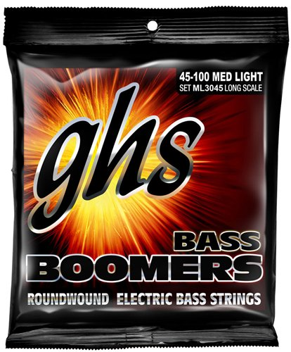 GHS ML3045 Medium Light Boomers Electric Bass 4 String Set (45-100) by GHS