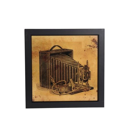 19 x 2 x 19 in. Vintage Camera Wall Art - image 1 de 1