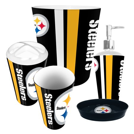 Pittsburgh Steelers Nfl Complete Bathroom Accessories 5pc Set