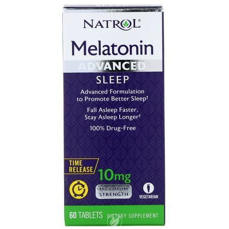 Natrol Advanced Sleep Melatonin 10MG 60 Tablet, Pack of 2