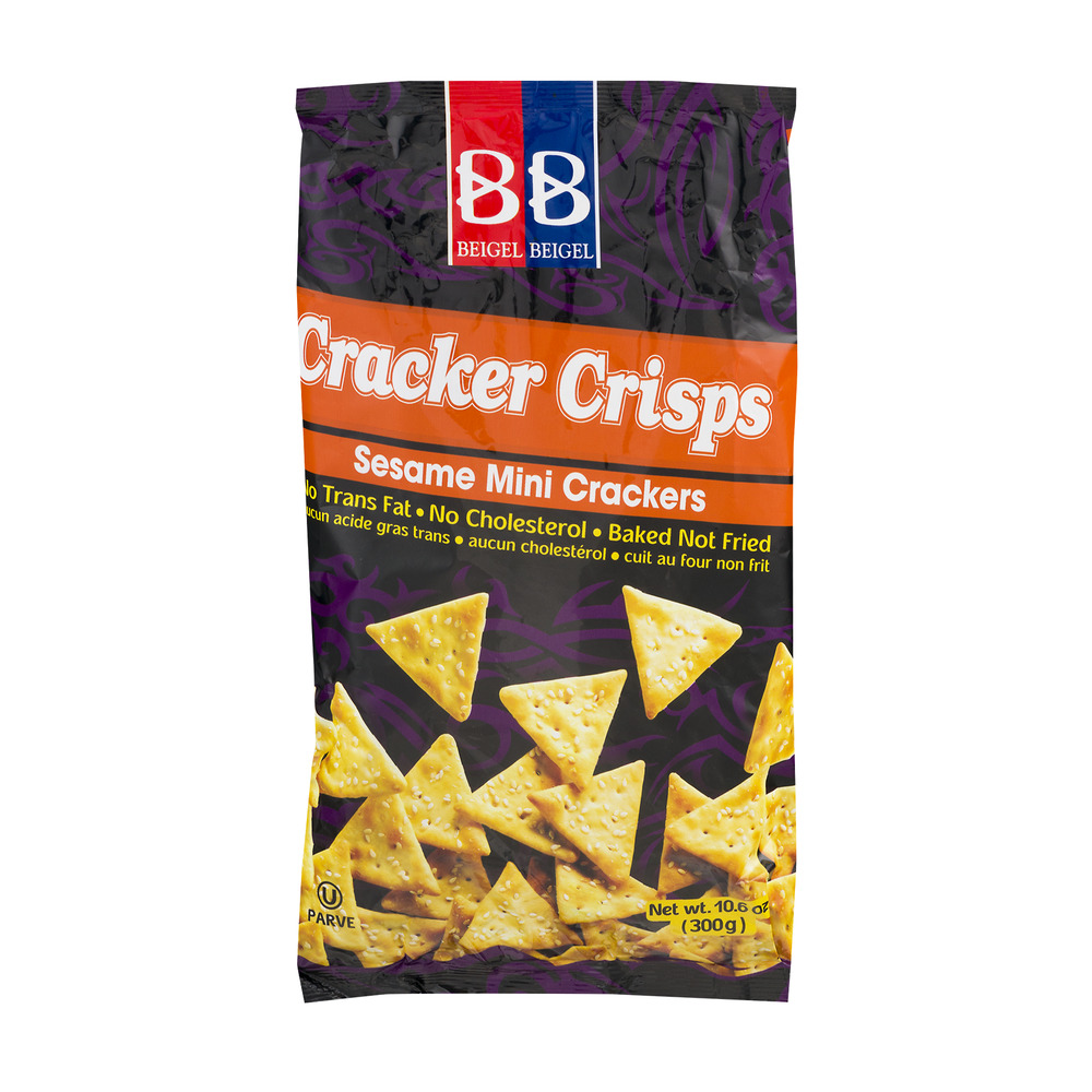 Beigel Beigel Cracker Crisps Sesame Mini Crackers, 10.6 OZ