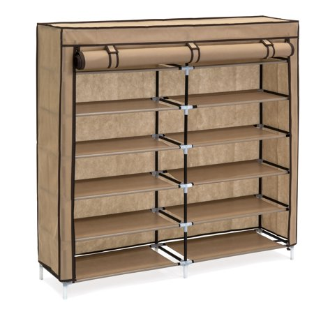 Best Choice Products 6-Tier 36-Shoe Portable Home Shoe Storage Closet Rack with Fabric Cover,