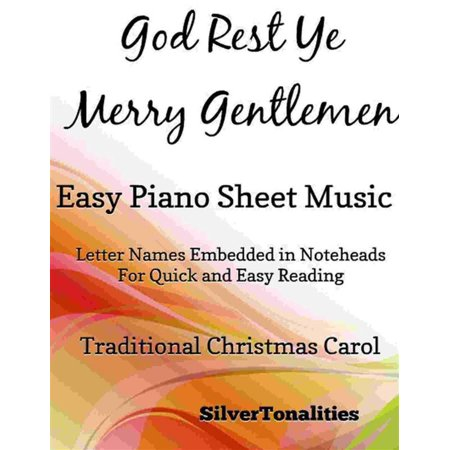 God Rest Ye Merry Gentlemen Easy Piano Sheet Music - eBook