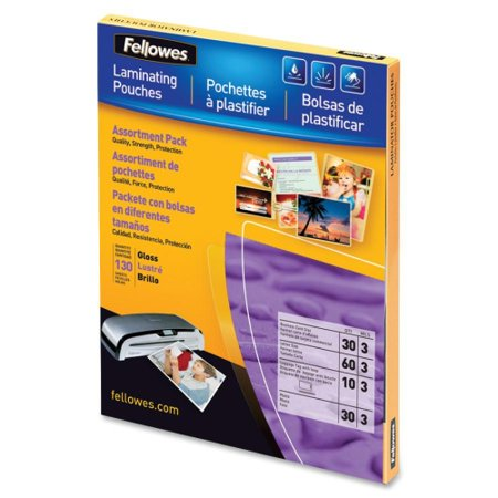 Fellowes 5208502 Laminating Pouches Asst 3Mil 130Pk