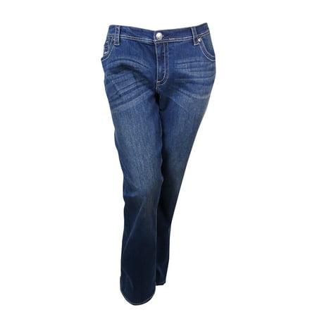 Seven7 Womenu0026#39;s Slim Bootcut Denim Jeans - Walmart.com