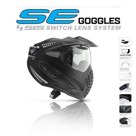Dye Special Edition Single Lens Paintball Goggles - Black