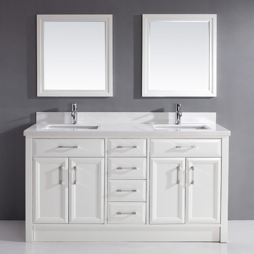 Bauhaus Bath Caledonia 63'' Double Bathroom Vanity Set with Mirror