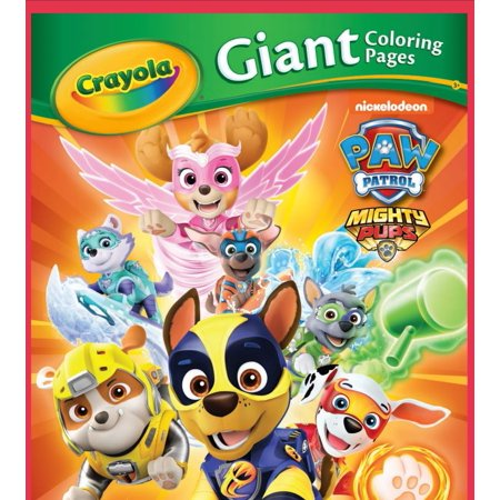 Crayola Giant Coloring Pages Nickelodeon Paw Patrol Mighty
