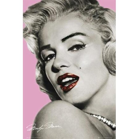 Marilyn Monroe Lips Sexy Pink Movie Film Poster 24X36 Inch