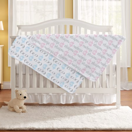 Personalized Elephant Parade Baby Blanket - Available in 4 Colors