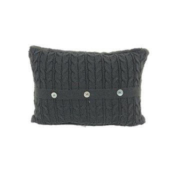 Brentwood Originals 2327 Cable Knit Throw Pillow, Graphite