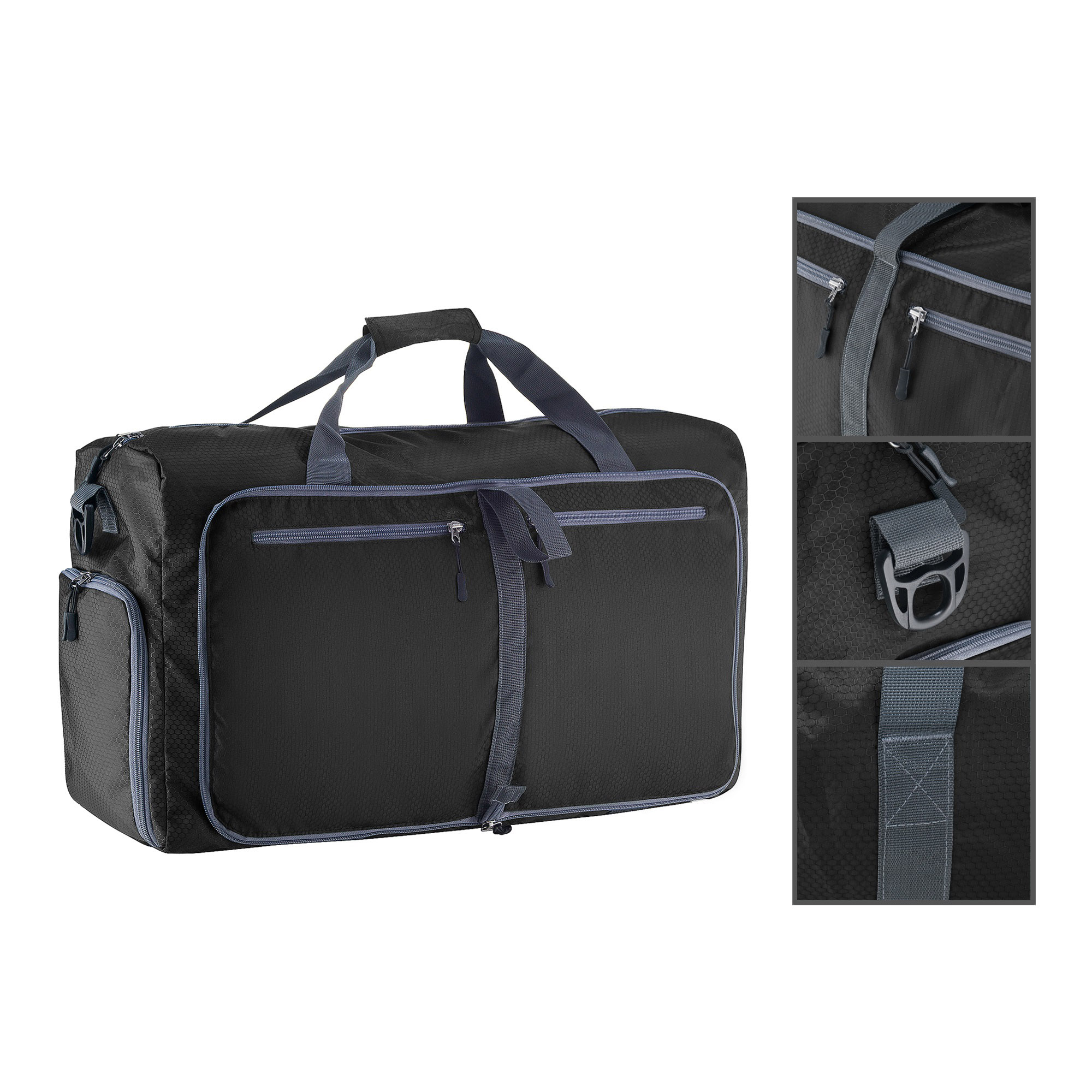 c74e079ebb02 Duffle Gym Bag - Luggage Tote for Overnight   Weekend Trips - Includes Shoe  Compartment and Outer Pockets for Storage by Wakeman Outdoors - Walmart.com