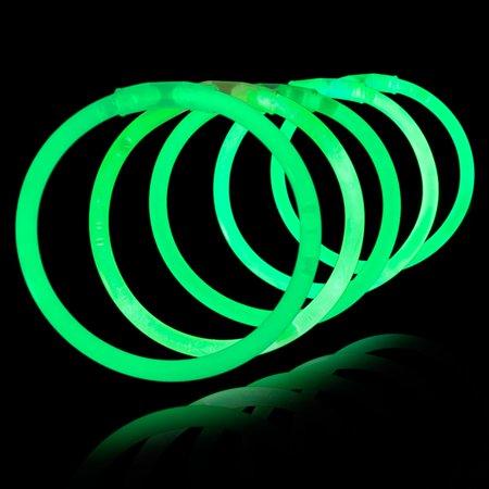 8 Glow Stick Bracelets, Green, 500 ct - Bracelet Light