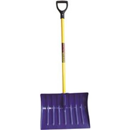 Structron Snow Shovel With Blue Head And 43 In. Fiberglass Handle