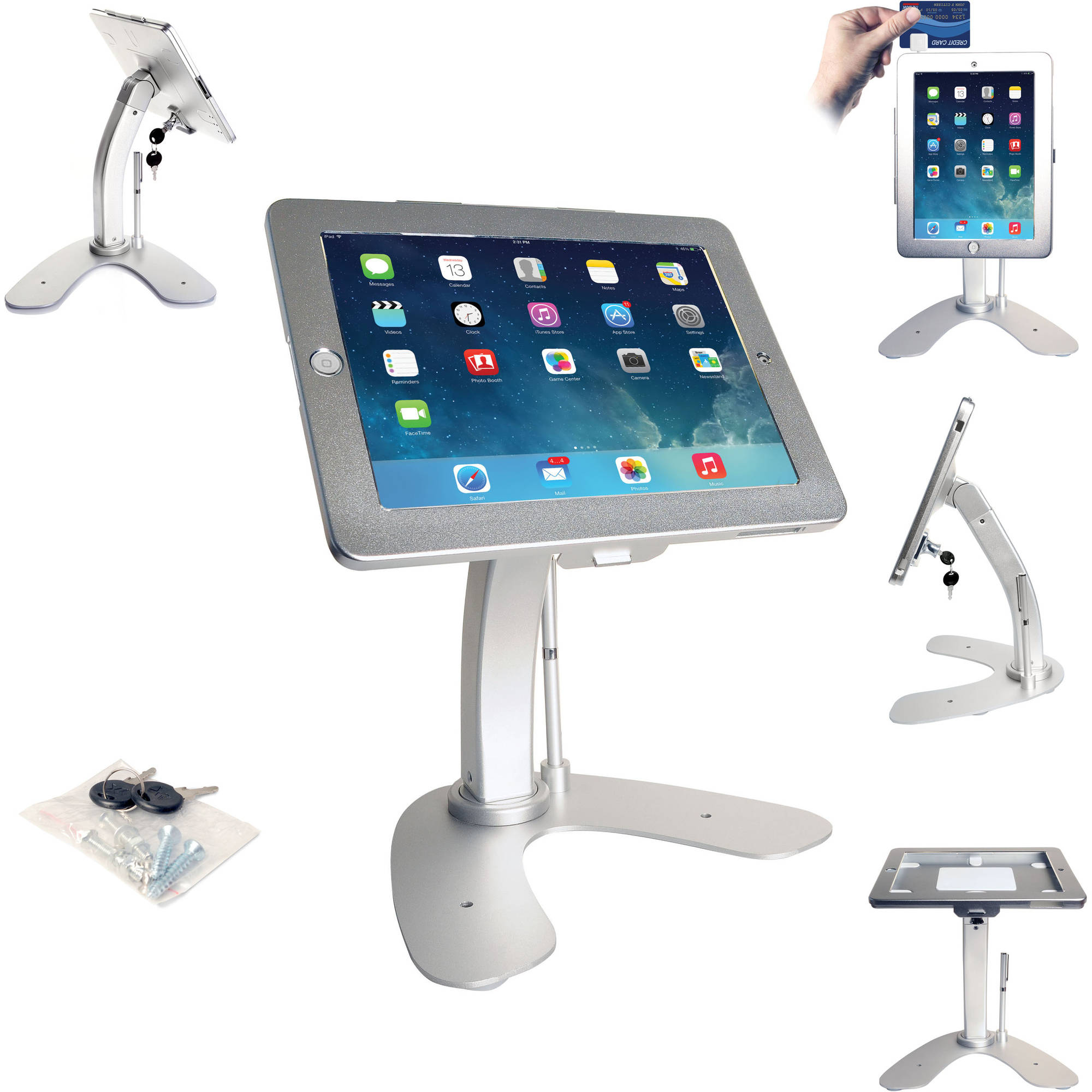 CTA PAD-ASK Apple iPad/iPad Air/iPad Air 2 Antitheft Security Kiosk Stand