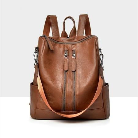 Meigar Women Girls School Leather Backpack Travel Handbag Rucksack Shoulder Bag Tote ()