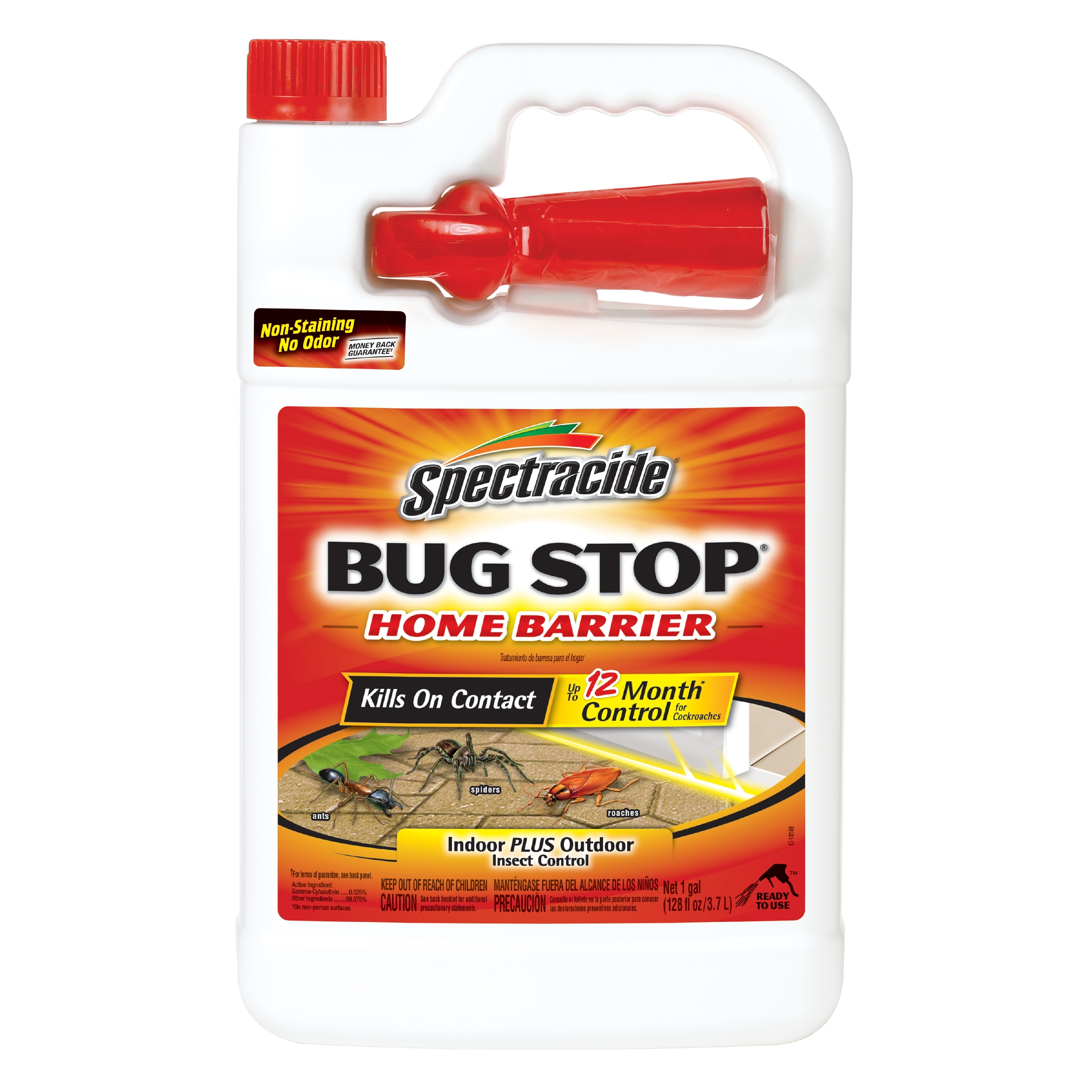 Spectracide Bug Stop Home Barrier, Indoor Plus Outdoor, 1-Gallon