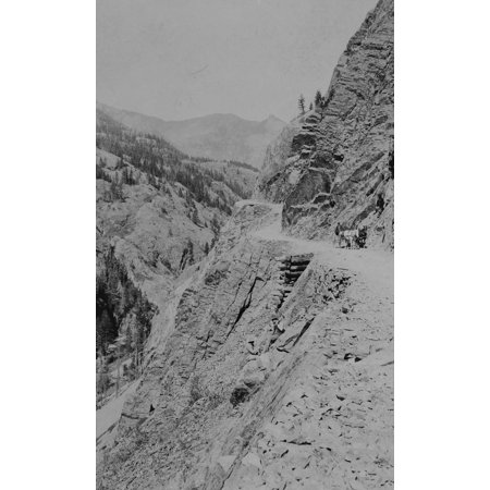 Ouray And Silvertons Stage Route Ca 1880S Stagecoach And Wagon Supply Route From The Mining Town Of Ouray To Silver Mining Town Of Silverton Poster Print by WH Jackson