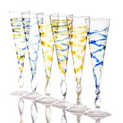 Abigails Rialto Spiral Champagne Flutes Set of 6 by Abigails