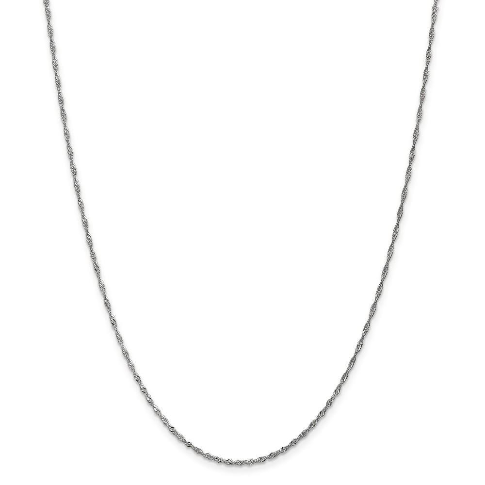 14k White Gold 10in 1.7mm Singapore Anklet Chain