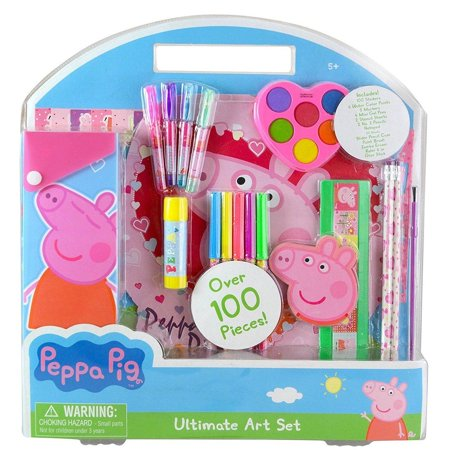 Innovative Designs Peppa Pig Ultimate Art Set (100pc Set) Arts and Crafts