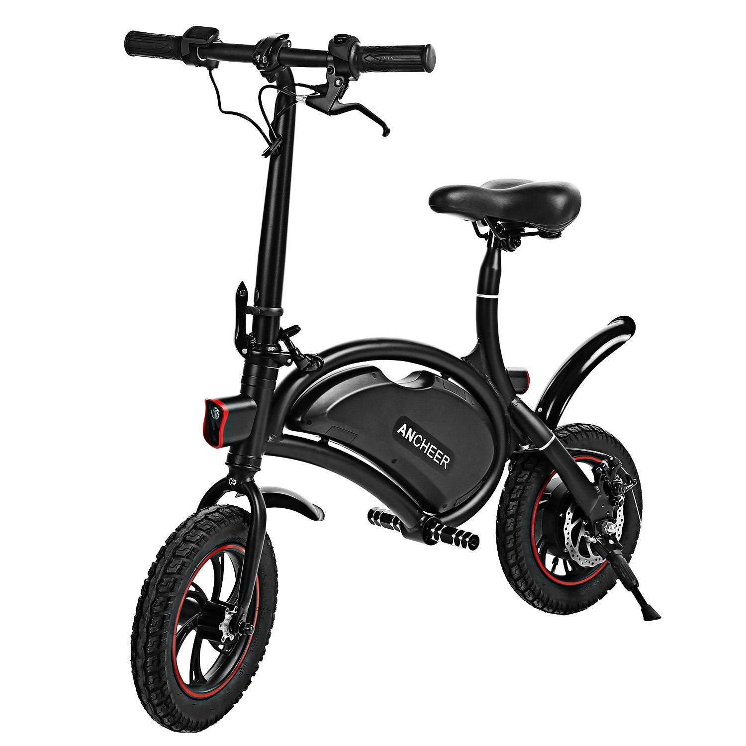 ANCHEER E-bike APP Control Power Plus Folding Electric Bike Portable  Bicycle With 350W 36V 6AH Battery
